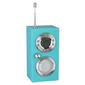radio r veil koby bleu affichage digital ecran lcd design r tro antenne abs soft touch et m tal. Black Bedroom Furniture Sets. Home Design Ideas