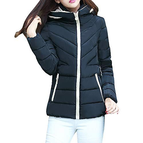 Steppjacke Damen UFODB Frauen übergangsjacke Mode Freizeit Fit Winterjacke Langarm Zipper Sportjacke Softshelljacke Daunenjacke Outwear Tops