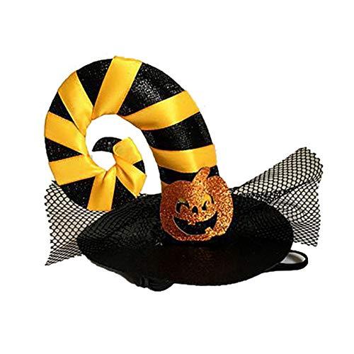 Kostüm Hut Muster Im Katze - LCWYP Haustier Halloween Kürbis Katze Hut Kostüm Pet Cap Hut Spinne Kostüm Halloween Dekoration Kostüm Für Kleine Hunde Katze