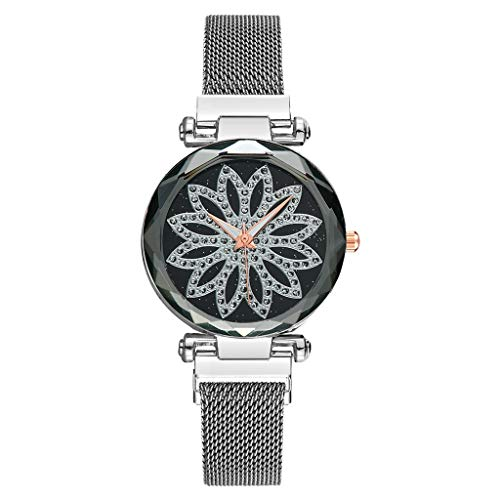 YULAND Damen Uhren Analog Quarz Vansvar Quarz Edelstahl Magnetband Newv Armbanduhr Analoge Armbanduhr