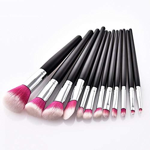Make Up Pinsel Set Make Up Pinsel Kit12 Make-Up Pinsel Set Beauty Tools Schwarz Holz Lose...