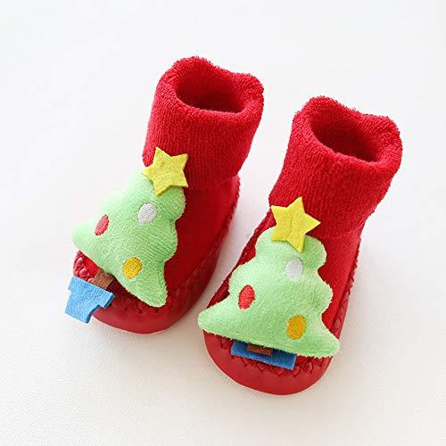 Fashion Sport Zapatos de la Historieta del otoño y del Invierno, Navidad Terry niño del bebé, Calcetines...