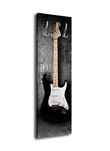 Garderobe-mit-Design-E-Gitarre-G353-40x125cm-Wandgarderobe-Rock-Grunge-Musik