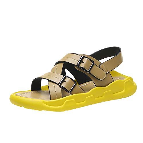 Wawer❤ -Sommer Mode Flacher Boden Schnalle Sport Sandalen Schuhe Flache Schuhe -Sexy Frauen Espadrilles Lässig Sandalen Strandschuhe Einzelne Schuhe High Heels