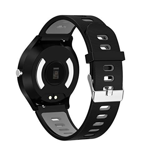 Smart Watch, Chshe❤❤, Bluetooth-Farb-Display Herzfrequenz-Blutdruck-Schlaf-Überwachung, Erkennung Herzfrequenz, Blutdruck-Erkennung (Gy)