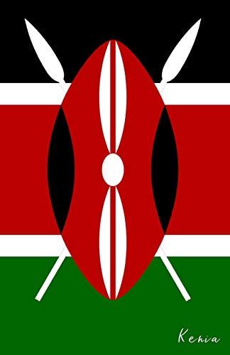 Kenia: Flagge, Notizbuch, Urlaubstagebuch, Reisetagebuch zum selberschreiben -