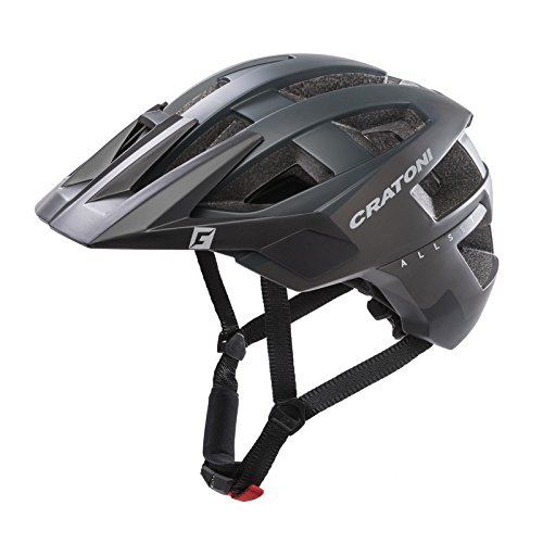 Cratoni 110601D1 Fahrradhelm AllSet (MTB) Gr. S/M (54-58cm) schwarz matt, schwarz (1 Stück)