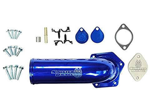 Sinister Diesel Complete 6.4L Powerstroke EGR Valve/Cooler Delete Kit with High Flow Intake Elbow by Sinister Diesel
