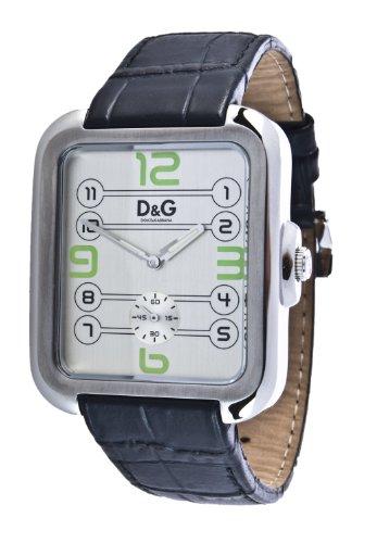 Dolce & Gabbana - DW0187 D&G - Montre Homme - Quartz Analogique - Cadran Blanc - Bracelet Cuir Noir