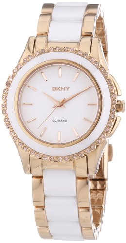 DKNY (DNKY5) Women's Quartz Watch with White Dial Analogue Display and White Stainless Steel Bracelet NY8821
