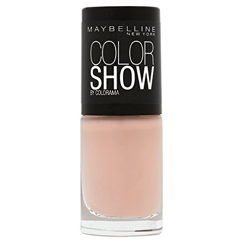Maybelline New York Make-Up Nailpolish Color Show Nagellack Latte / Ultra glänzender Farblack in leuchtendem Nude, 7 ml