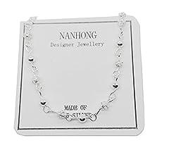 Idea Regalo - NANHONG Dainty Gioielli mini Perline Braccialetto con Ciondolo in Argento 925 Catenaria Della Mano