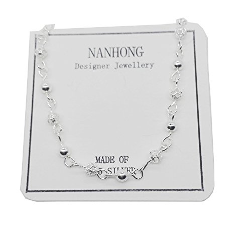 Nanhong Anmutiges Armband mit Mini-Perlen Charm in 925 Sterlingsilber