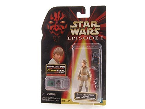 Star Wars Episode 1 - Action Figur 84074 - Anakin Skywalker mit Rucksack und Grease Gun (inkl. CommTech Chip)