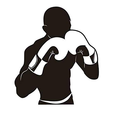 Boxhandschuh Aufkleber Kick Boxer Spiel Auto Aufkleber Free Combat Poster Vinyl Stürmer Wandtattoos Dekor 40x46CM