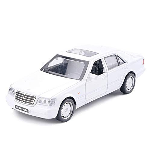 SSBH Erwachsene Kinder Holz und Mustang Kleinkinder Metall Auto Spielzeug Weiß 1/32 Diecast Model Car Simulation Legierung Roadster-Modus Spielzeug Fahrzeug Sammlerstücke Modellautos Geschenke, Weiß -