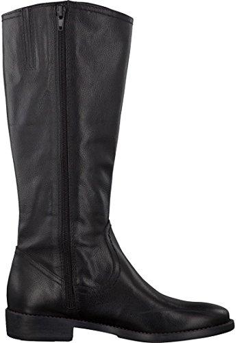 bottes en cuir Tamaris hautes bottes noires 1-25896-27 001 Noir Black