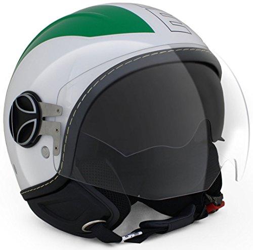 10030080016Casco Momo Avio Pro Italia verde/blanco/rojo