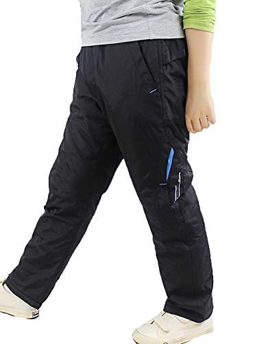 Echinodon Jungen Gefütterte Hose Wasserabweisend/Winddicht/Warm Outdoorhose Wanderhose Kinder Winterhose Blau