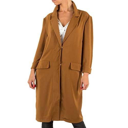 Damen Mantel Jcl Trenchcoat Leichter Braun S/M (Wide Bermuda Leg)