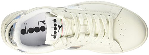 Diadora Unisex-Erwachsene Game Hologram Sneaker Low Hals Elfenbein (Bianco)