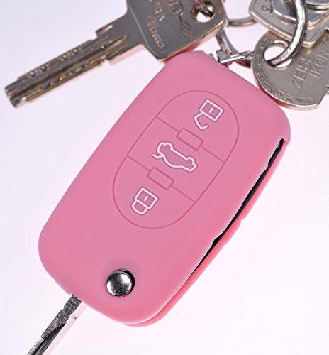 Soft Case Schutz Hülle Auto Schlüssel Rosa für Audi A4 B6 A3 8L A6 C5 A2 K