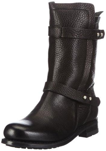 Blackstone High Zipperboot Fur, Bottes Chukka femme Noir - Schwarz (black)