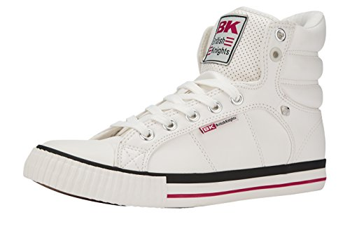 British Knights ATOLL UNISEX ALTE SNEAKERS Bianco/Rosso