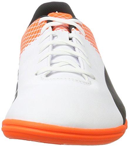 Puma Herren Evospeed 5.5 It Fußballschuhe, 43 EU Weiß (White/Black/Shocking Orange 03)
