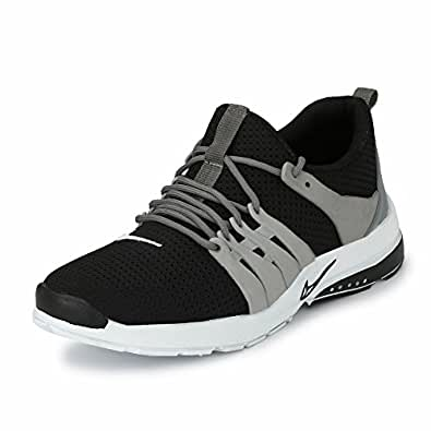 Fucasso Men's Smart Fit Black Grey Sports Shoes (6 UK)