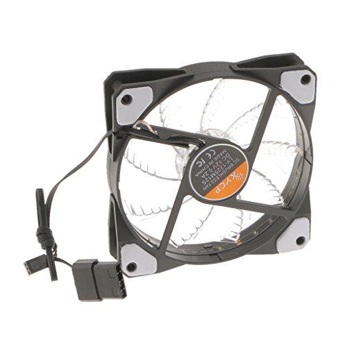 ED Licht Neon Ganz 120mm PC Computer Fall CPU Kühler Lüfter - Weiß (Kleine Led-lüfter)