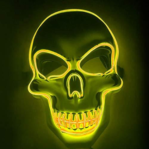 Für Kostüm Mädchen Vendetta V - Innerternet LED Maske mit 3 Blitzmodi für Halloween Fasching Karneval Party Scary Maske Cosplay für Fasching Karneval Party Kostüm Cosplay Dekoration