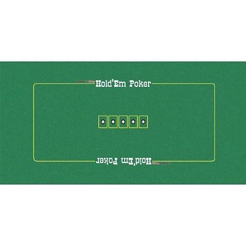 Trademark Poker Texas Holdem Layout, 36 x 72-Inch