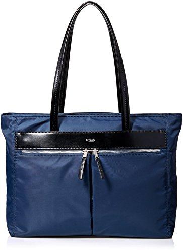 knomo-luggage-mayfair-nylon-tip-zip-15-inch-travel-totes-navy