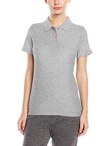 Stedman Apparel Polo/ST3100 T-Shirt da Donna Grigio (Grey Heather)