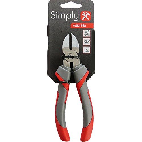 Einfach Tools cutp7eleganten Matt Cutter Zange 17,8cm chrom-vanadium-Body zu Schnitt Weiche Kupfer Stahl Draht Terminal Kabel etc. (Starten Terminal)