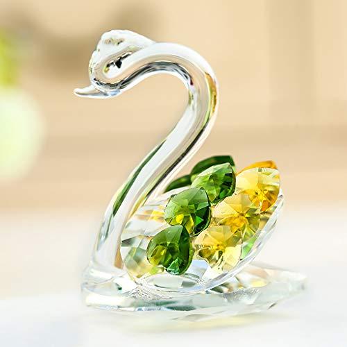 Der Geschmack von zu Hause Crystal Swan Mobile Counter Glasses Schmuck Desktop Counter Dekoration Dekoration (Farbe : Green)