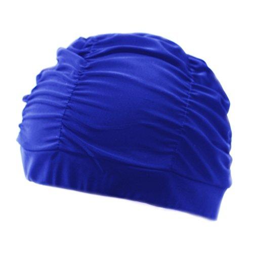 489ba18f58ad BienBien Donna Cuffie da Bagno con Fiori Moda Cuffia Nuoto Tessuto  Protettiva da Bagno Cappello per Adulti Adolescente Popolare Disegno Goccia  Grande ...