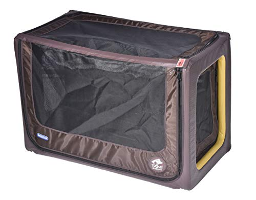 Tami - Hundetransportbox aufblasbar Tragebox Transportbox Hundebox Reisebox Autotransportbox Kofferraumbox Gitterbox Käfig Hund Box Dogbox inflatable inkl. Dog-Vital Bio-Hundekeks (Backseat L) (Aufblasbare Sport-auto)