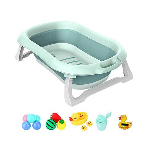 GY Tragbar Faltbadewanne Für Kinder Baby Badeeimer Rutschfest Isolierung Kann Sitzen Und Liegen Kunststoff Home Neugeborene Bad Wanne 2 Farben, 88 * 54 * 24 cm (Farbe : Blue+A)