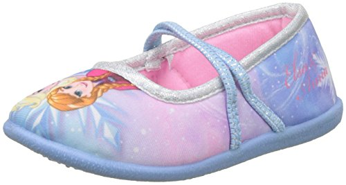 Disney Frozen Girls Kids Ballerina Houseshoes, Zapatillas de estar Por Casa Para Niñas, Varios Colores (Light Blue/Silver), 27 EU