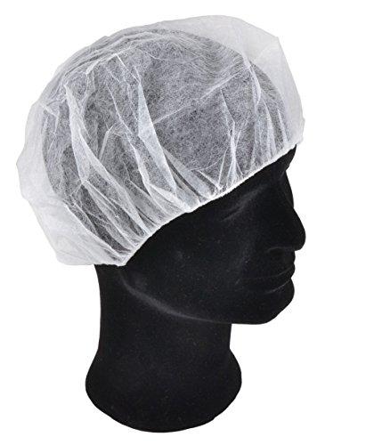 Solida Schwesternhauben Kopfhauben weiss Hygiene Vlieshauben Einmalhauben Baretthauben OP Hauben, 3er Pack (3 x 100 Stück) (Kopfhauben Einweg)