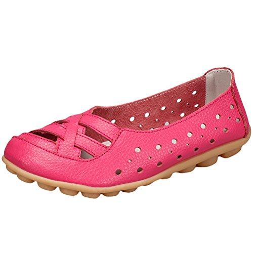 Vogstyle Mocassins Femmes Casuel Sandales Plat Chaussures Confort Style 2 Rose