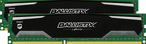 Ballistix Sport BLS2CP8G3D1609DS1S00CEU 16GB (8GBx2) Speicher Kit (DDR3, 1600 MT/s, PC3-12800, DIMM, 240-Pin) -