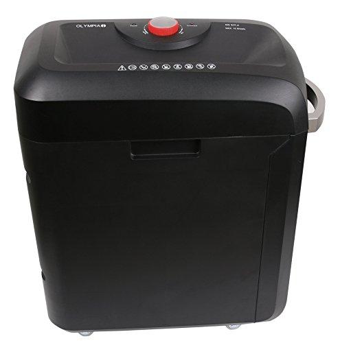 Olympia MC 310.4 Premium Aktenvernichter Büro (Sicherheitsstufe P4, Partikelschnitt, 10 Blätter 80g/m², Papiervernichter mit automatischem Einzug, Schredder mit Mikroschnitt)
