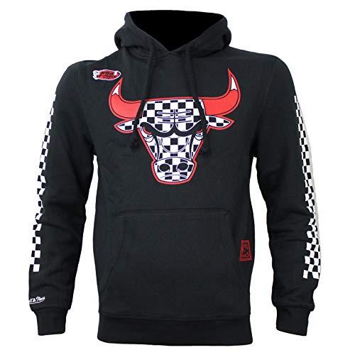 M&N Herren NBA Sweatshirt Chicago Bulls Fill Logo Hoody schwarz Bulls Logo Hoody