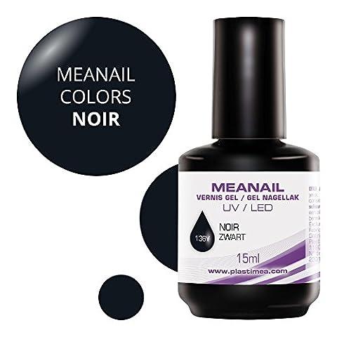MEANAIL GEL COLOR 15 ML - Vernis à ongles Semi Permanent séchage rapide avec toute Lampe UV / LED - Dure jusqu