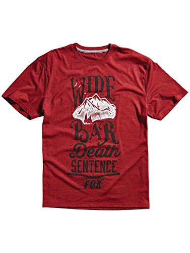 Fox Herren Wide Bar Tech Tee Heather Red