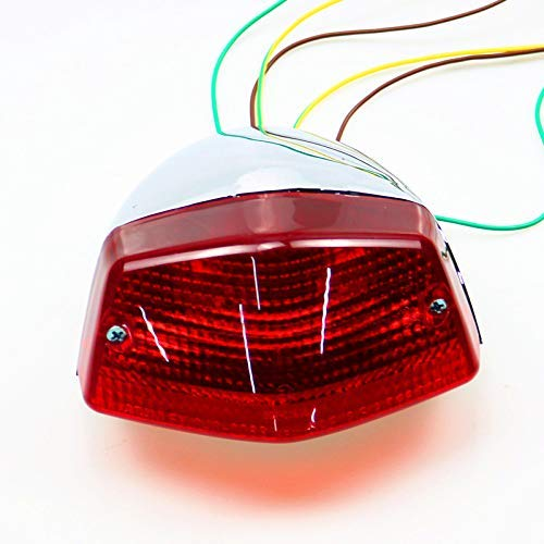 BHYShop Motorrad Hinten Integrierte Bremsrücklicht Für Honda Steed 400 95-97 600 89-96 VT600C 88-97 VT600CD (Honda Steed 400 Motorrad)