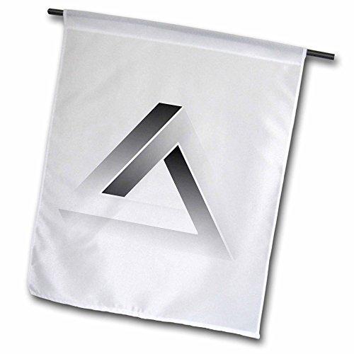 3drose FL '_ 24272_ 1Escher 's Impossible Triangle auf weißem Hintergrund Garden Flagge, 12von 18 (Escher-zeichnung)